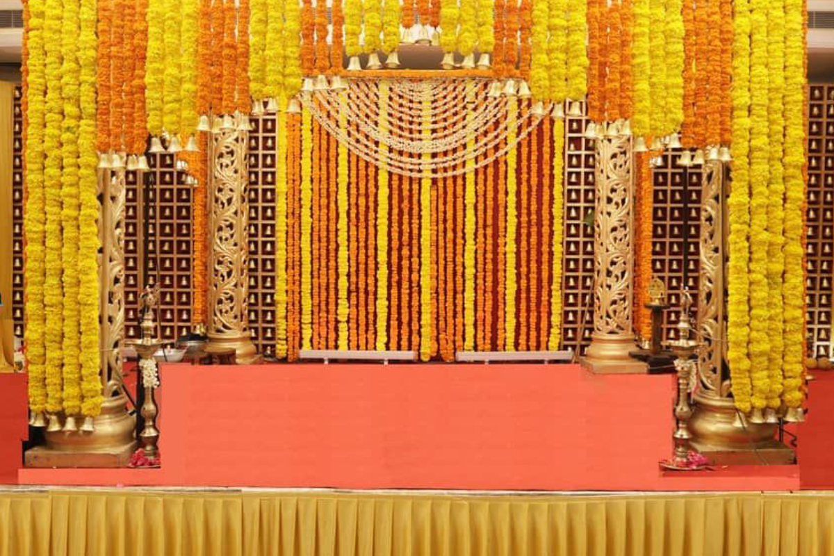 Implications of the Elements used in Wedding Hall Mandap